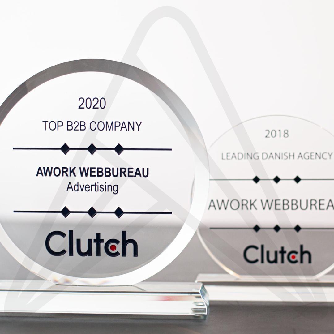 AWORK Webbureau modtager to Clutch Awards, og manifesterer sig som Danmarks bedste PPC Management Firm